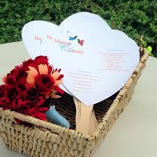 do it yourself wedding programs do it yourself heart fan wedding programs kit