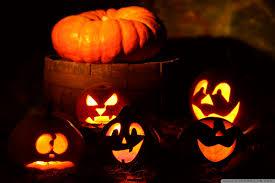 lighted halloween pumpkins hd desktop wallpaper high definition