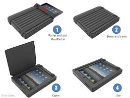 inflatable case for ipad with built in manual pump by vit gean at