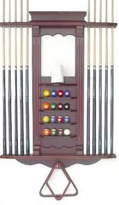 pool table wall rack pool cue rack holder only 10 billiard stick and ball wall rack w