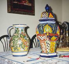 Mexican Pottery Vases Talavera Pottery