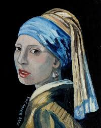 vermeer earring girl with the pearl earring inspired by johannes vermeer painting