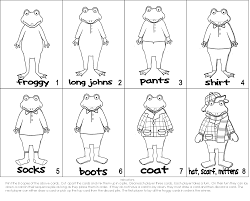 froggy gets dressed coloring pages coloring home