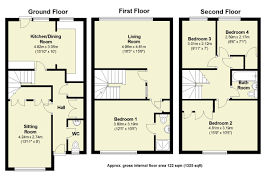 Stansted Airport Floor Plan by 4 Bed Town House For Sale In Winchmore Drive Trumpington