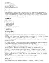 resume of financial analyst stunning idea entry level finance resume 1 professional entry