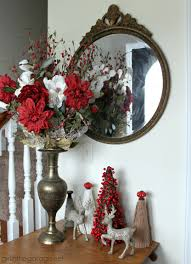 christmas foyer and diy yarn wreath welcome home tour in