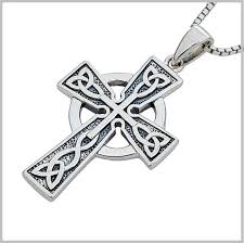 metal cross necklace images Sterling silver celtic cross men 39 39 s celtic cross necklace jpg