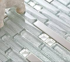 Metal Kitchen Backsplash Tiles Metal With Base Backsplash Tiles 304 Stainless Steel Sheet Glass Tile