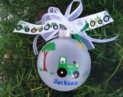 green tractor ornament baby s farm