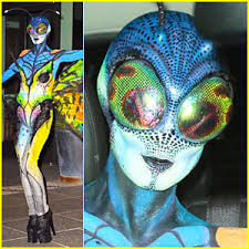 Blue Butterfly Halloween Costume Heidi Klum U0027s Halloween Costume Amazing Expected 2014