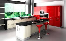 kitchen small modern kitchen shiny red kitchen cabinets blue