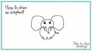 how to draw an elephant in 7 steps easy youtube