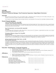 Example Of Resume For Beginners by Film Resume Template Resume Format Download Pdf Media Production