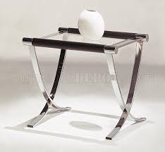 Glass End Tables Of Glass Top Contemporary Coffee U0026 End Tables W Chrome Legs