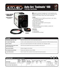 auto arc toolmate 100 hobart pdf catalogue technical
