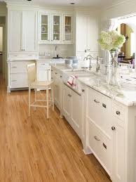 White Laminate Floors Astonishing White Tone Kitchen Ideas Showcasing Splendid