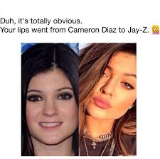 Jay Z Lips Meme - duh it s totally obvious your lips went from cameron diaz to jay z