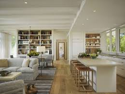 Open Kitchen Dining Room I Like The Stools As In No Seatback Profile Interfering With