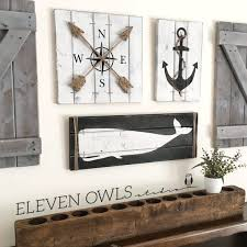 nautical decor nautical set 3 set rustic house decor wooden