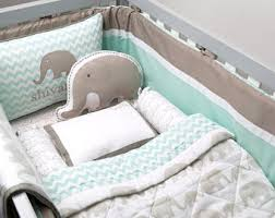 Custom Crib Bedding Sets Elephant Crib Set Etsy