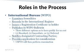 wipo international bureau u s implementation of the hague agreement ppt