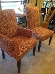 Orange Parsons Chair Parson Chairs Slipcovers With Duralee Fabrics Modern