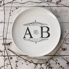 wedding guest book platter personalized monogram wedding guest book platter