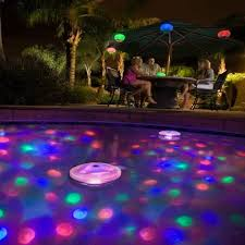 wholesale colored led floating underwater light show pool tub