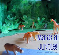 jungle preschool craft plastic animals jungle