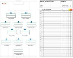 Sheet Templates Soccer Formations And Systems As Lineup Sheet Templates Brant Wojack