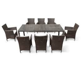 Patio Table Seats 8 Wicker Patio Dining Set For 8 Italy Beliani Com