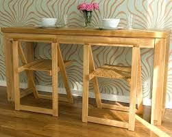 Console Dining Table by Dining Table Folding Oak Console Dining Table Flip Fold Out