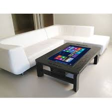 Computer Table For Couch The Giant Coffee Table Touchscreen Computer Hammacher Schlemmer