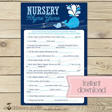 nursery rhyme baby shower whale baby shower nursery rhyme boy baby shower