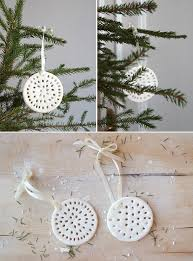 make white clay cutout ornaments one version for to