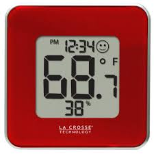 acurite 13 in copper analog clock thermometer hygrometer combo