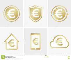 vector euro logo euro icon euro cloud icon euro shield icon