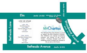 Nih Map Bethesda Row Arts Festival Map20th Annual Bethesda Row Arts Festival