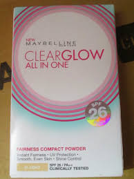 maybelline clear glow fairness compact powder review makeup