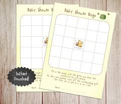 baby shower bingo game printable winnie pooh baby shower