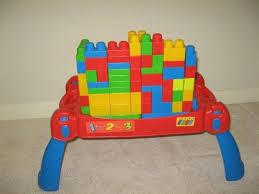 mega bloks first builders table mega bloks first builders build n learn table 15 00 in