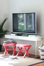 ikea console hack ikea console diy gold leaf table lack media hacker hack