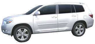 toyota highlander painted body side moldings 2008 2009 2010