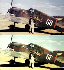 antrvm ratvs curtiss camouflage on a v g tomahawks