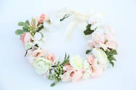 flower headband pastel flower crownflower headband headband wedding flower