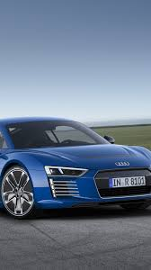 red audi r8 wallpaper hd background audi r8 e tron blue front and side view sportscar