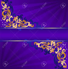 blue banner with a gold ornate ornaments royalty free cliparts