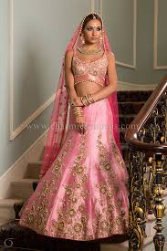 engagement lengha engagement pink silk lengha with large antique