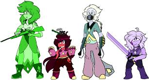 white opal gemsona green diamond gemsona