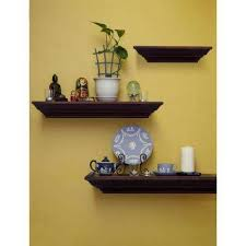Home Depot Decorative Shelves by Walnut Decorative Shelving Wall Decor The Home Depot